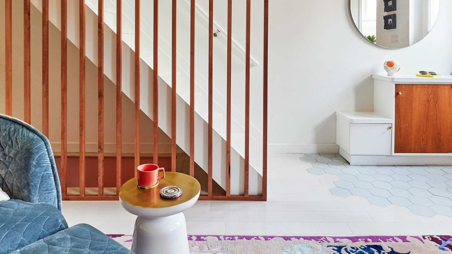 dania colorful home redo stairs
