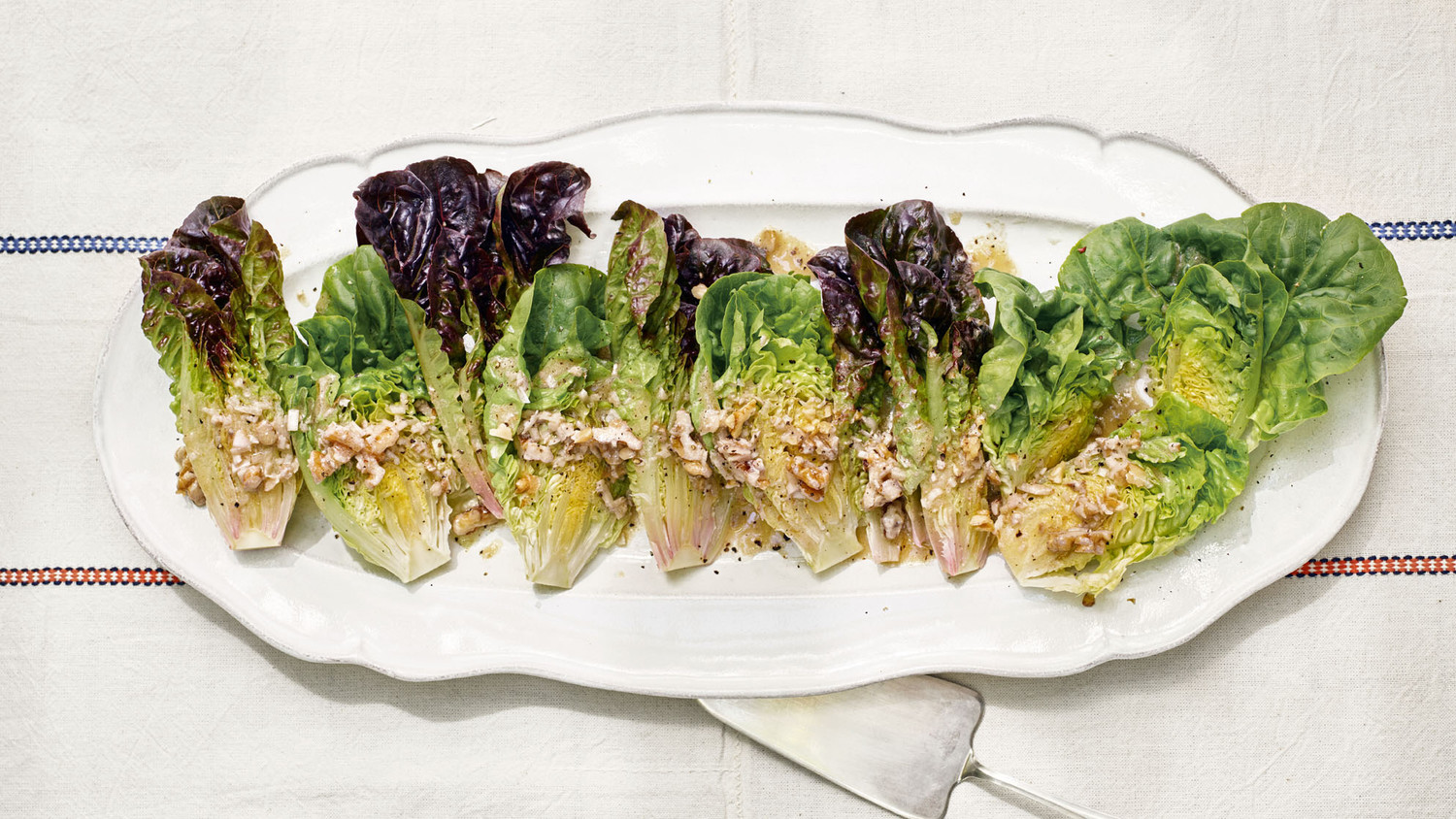 Little Gem Lettuce With Walnut Vinaigrette