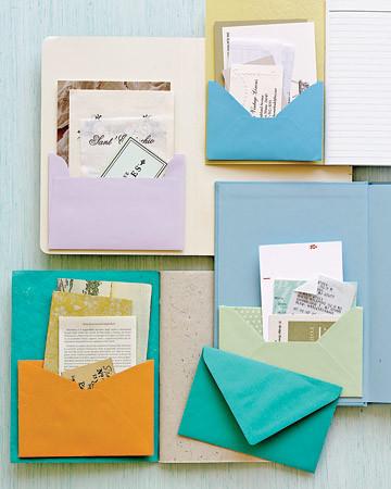 Notebook With Envelope Pockets Martha Stewart