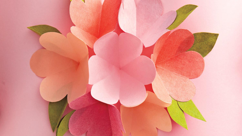 Картинки, открытка а внутри раскрывающийся цветок пошагово