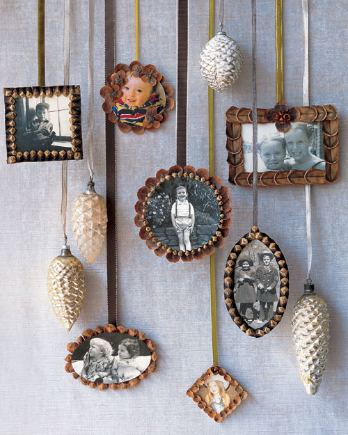 Pinecone Picture Frame Ornaments Martha Stewart