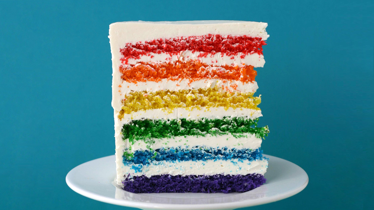 Rainbow cake for Decoration layer cake