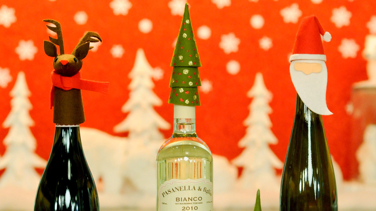 Holiday Wine Toppers & Video
