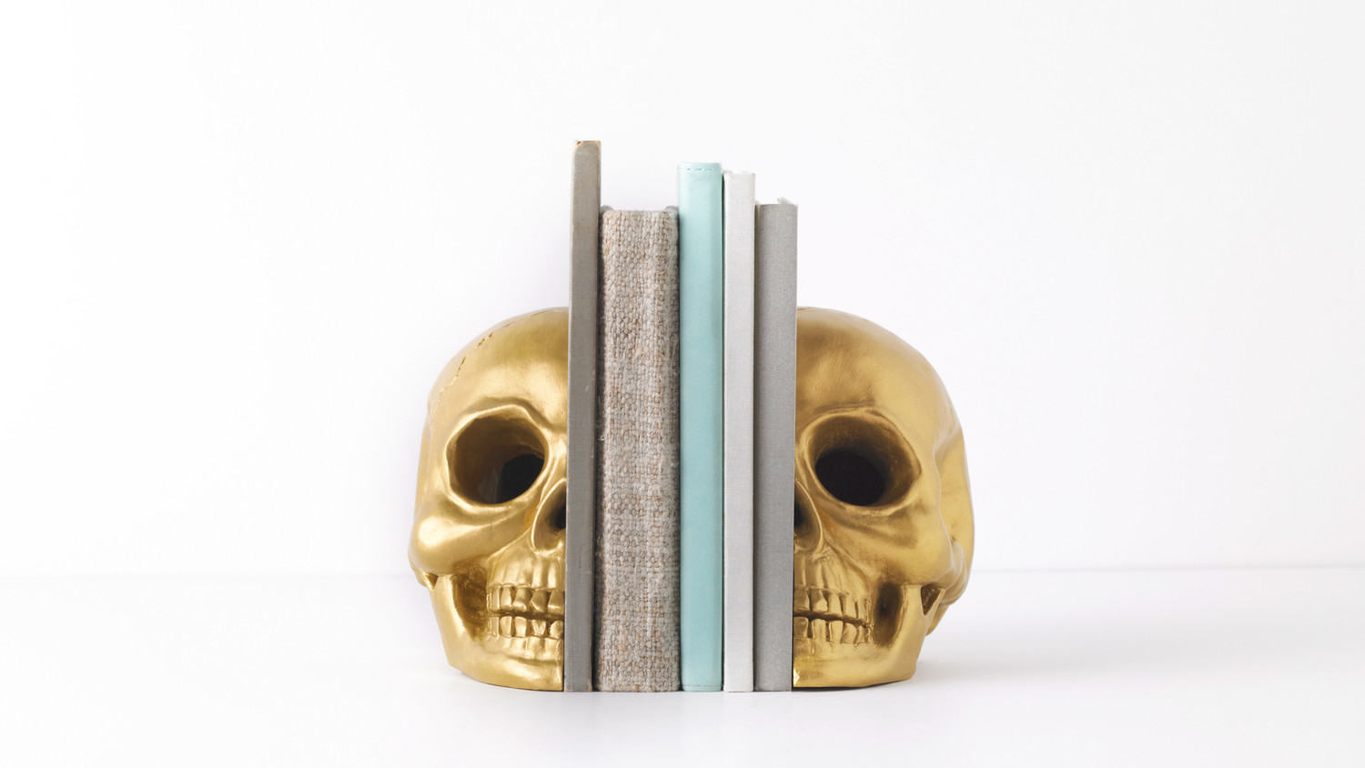 Halloween Skull Bookends