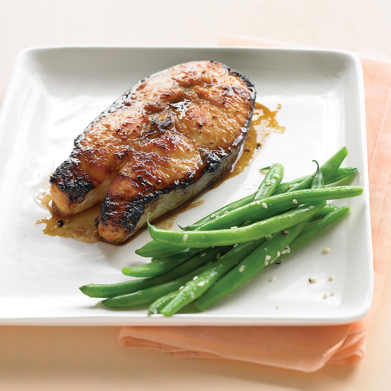 Soy Glazed Salmon Steaks