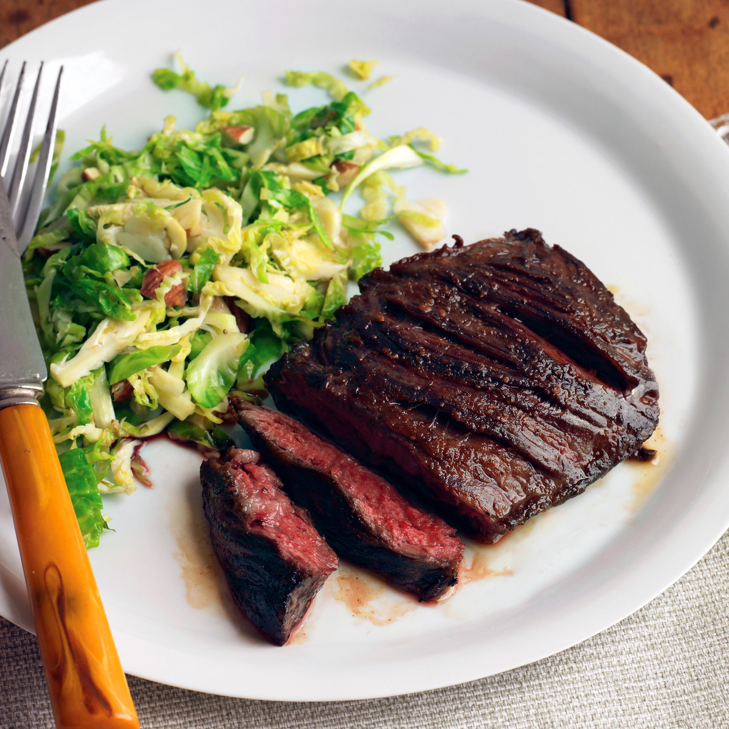 Pinterest Seared Steak With Brussels Sprouts And Almonds