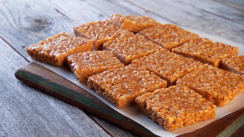 No Bake Peanut Butter Rice Krispies Cookies Kripiss Medan Karamel