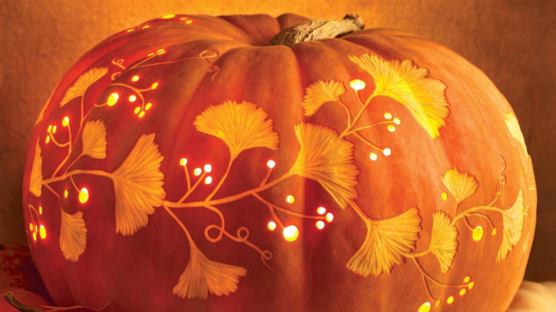 Halloween pumpkins martha stewart for Fall pumpkin stencils