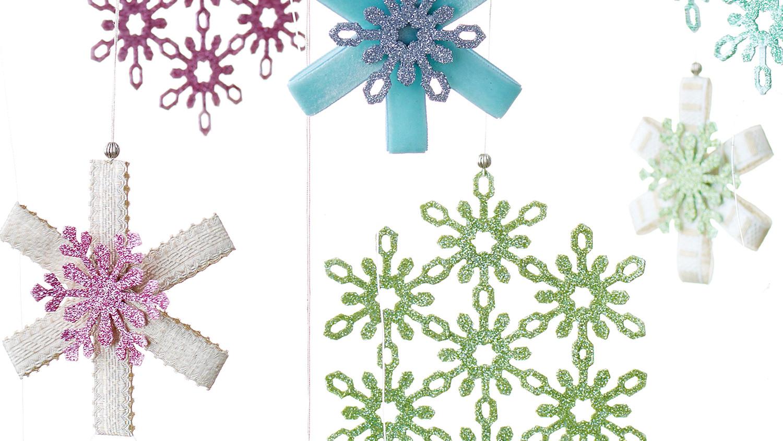 17 snowflake ornaments thatll guarantee a white christmas martha stewart