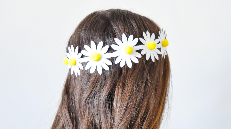 Paper Daisy Flower Crown Martha Stewart