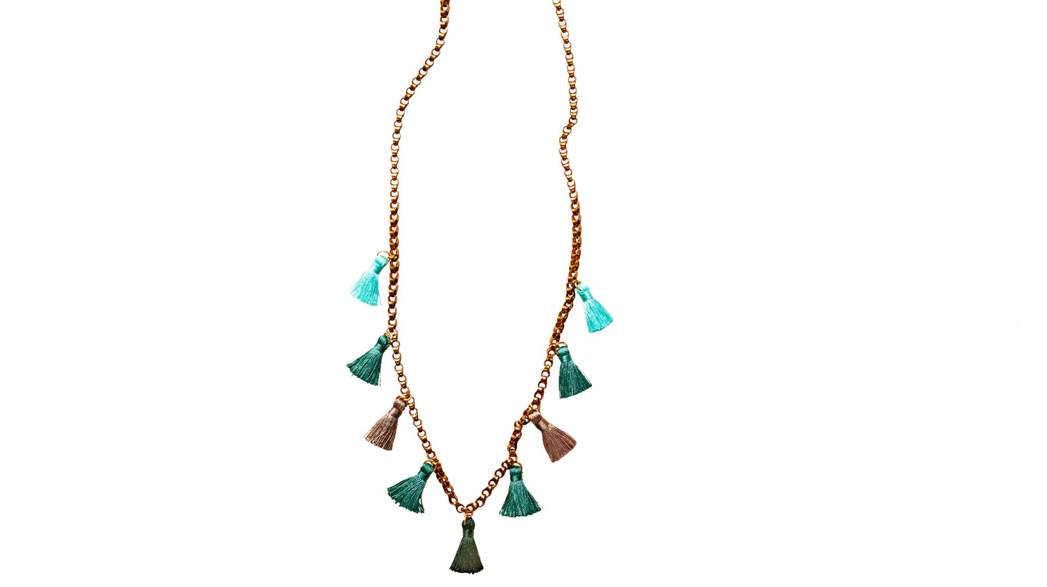 Mini-Tassel Chain Necklace