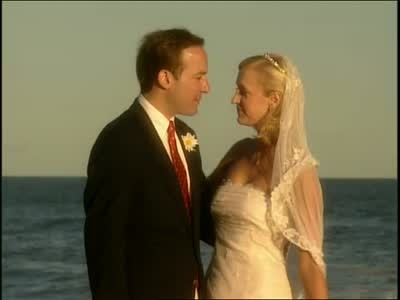 lara spencers wedding day horiz - wedding themes beach