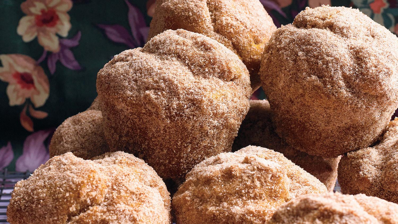 Pumpkin Doughnut Muffins Recipe & Video | Martha Stewart