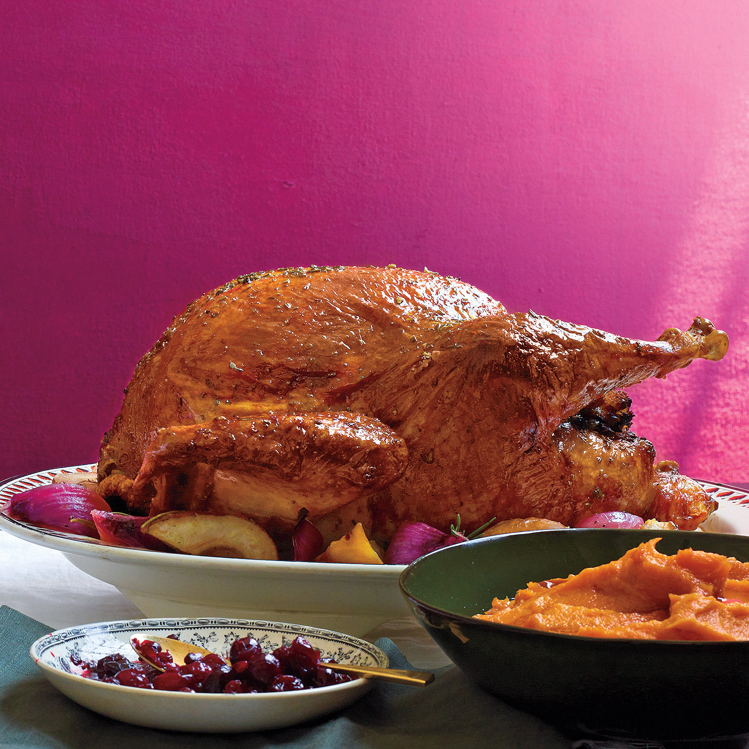 Roast Turkey With Rosemary And Lemon