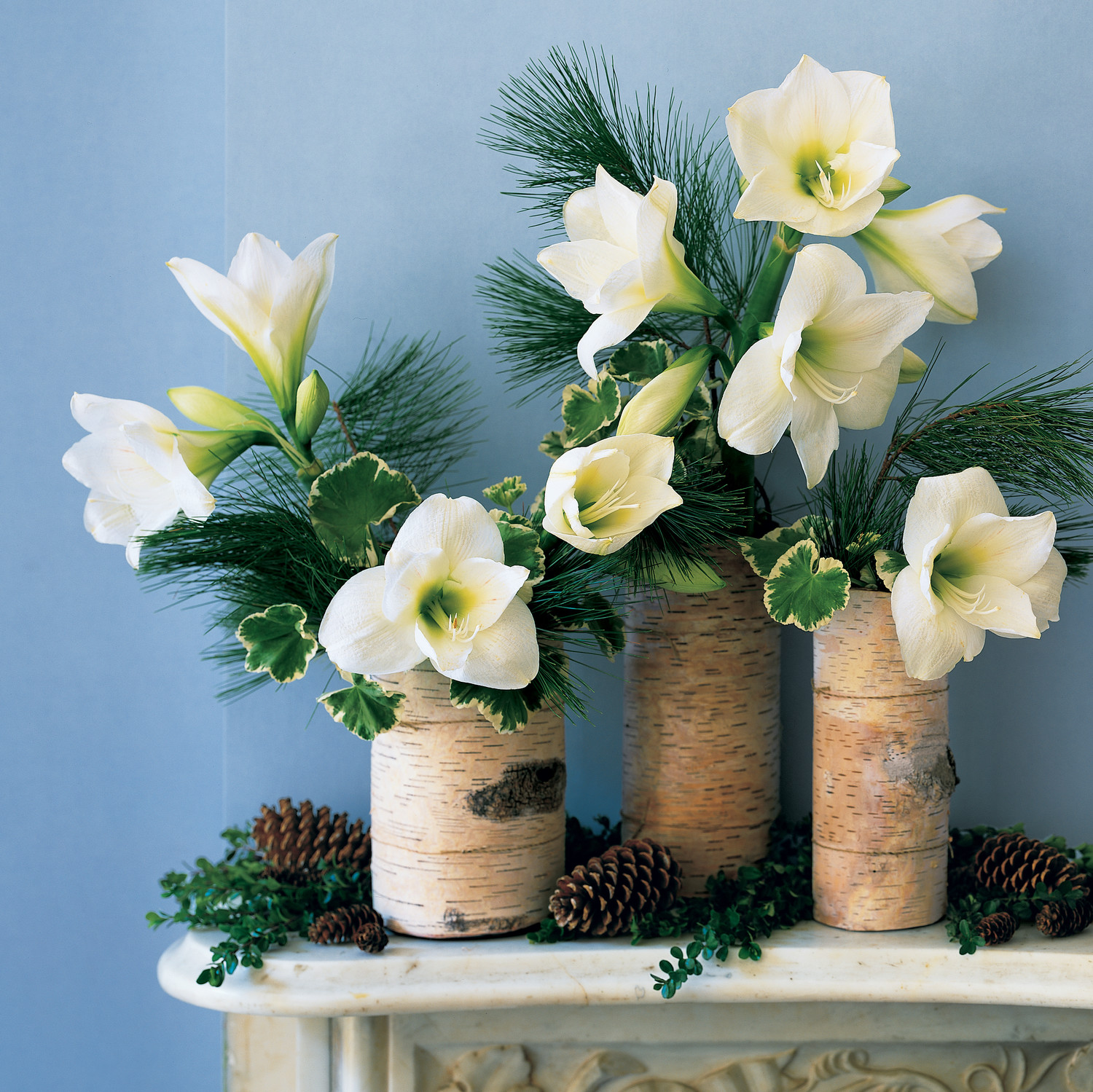 Flower arrangement ideas martha stewart birch arrangement izmirmasajfo