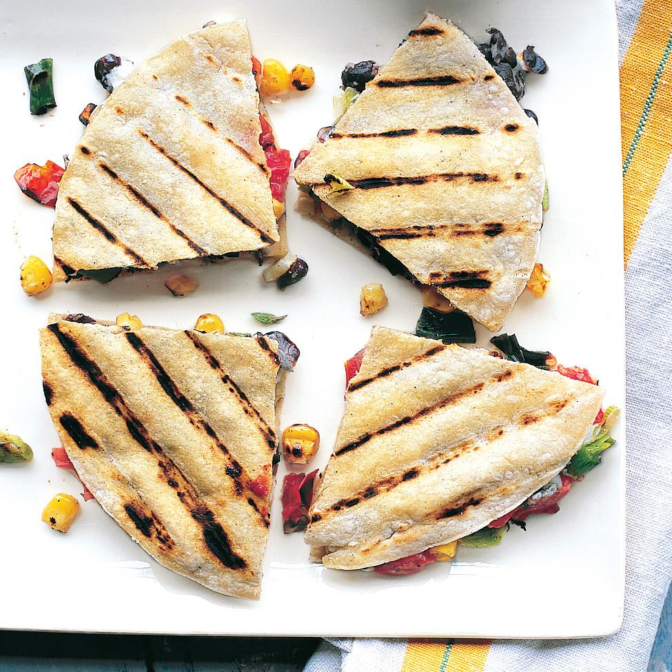 Black Bean And Goat Cheese Quesadillas