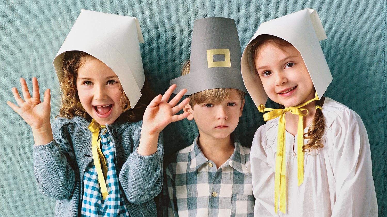 image relating to Pilgrim Bonnet Template Printable titled Paper Pilgrim Bonnet Martha Stewart