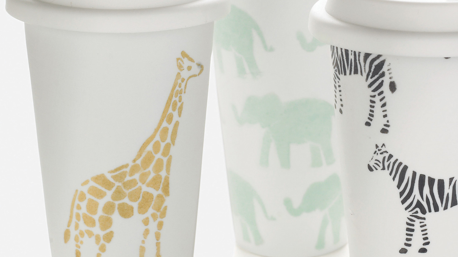 Safari Animal Stenciled Cups