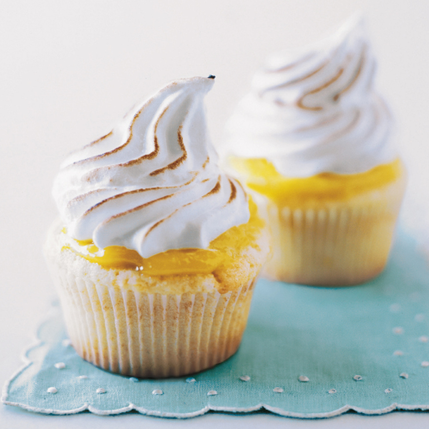 Lemon Meringue Cupcakes Recipe & Video | Martha Stewart