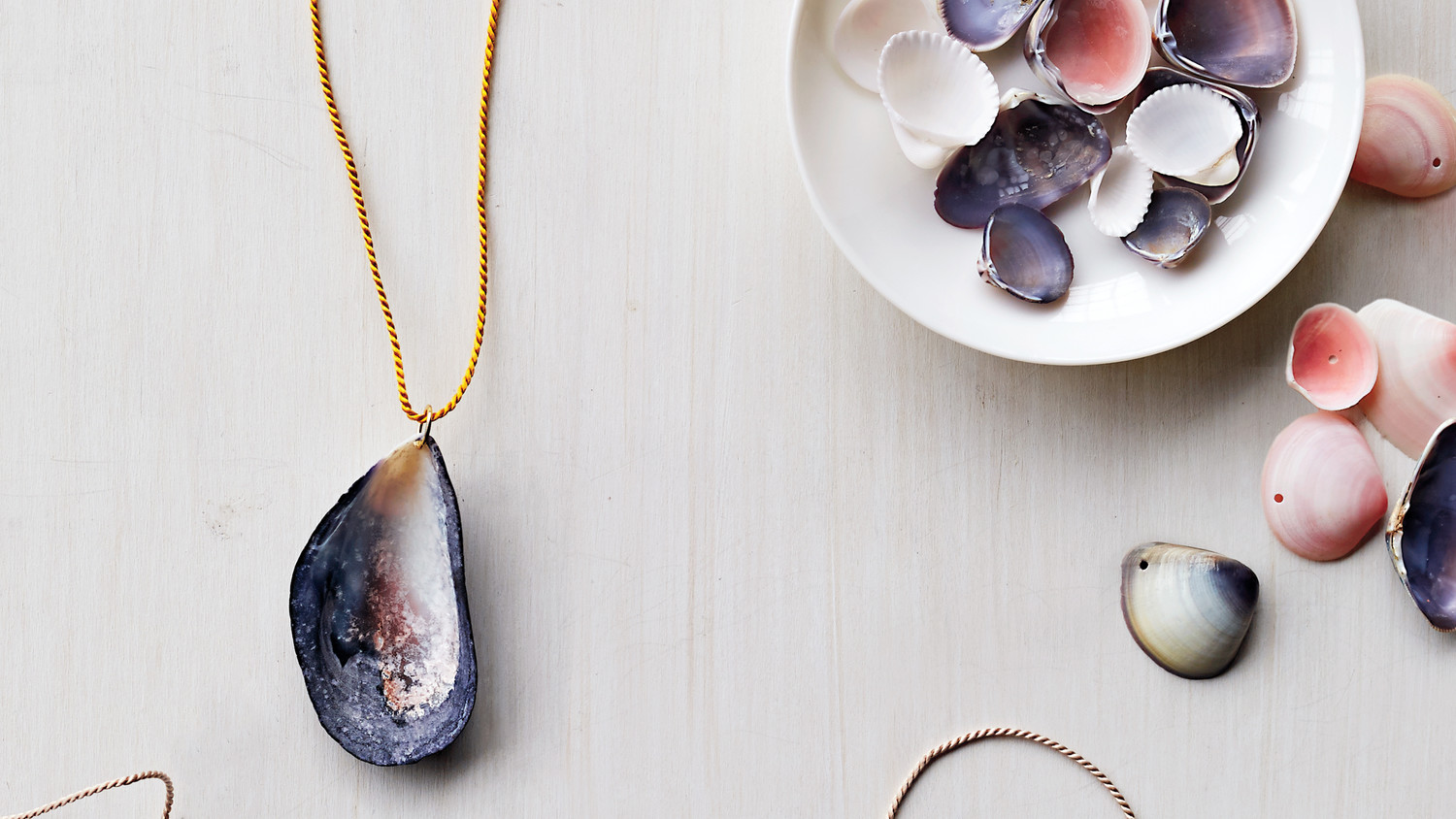 how to drill a shell for jewelry making martha stewart