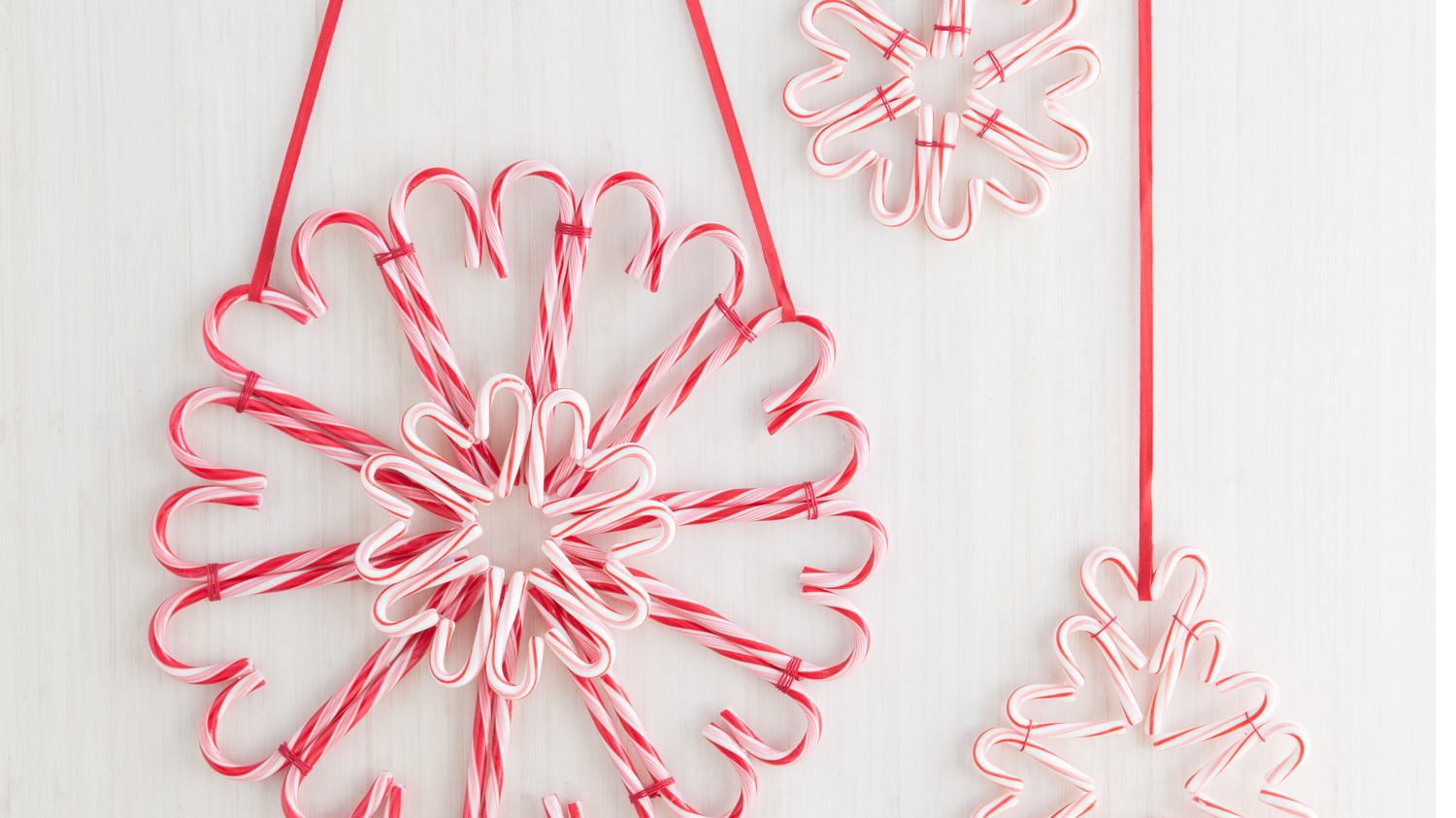 a sweet candy cane wreath for the holidays martha stewart