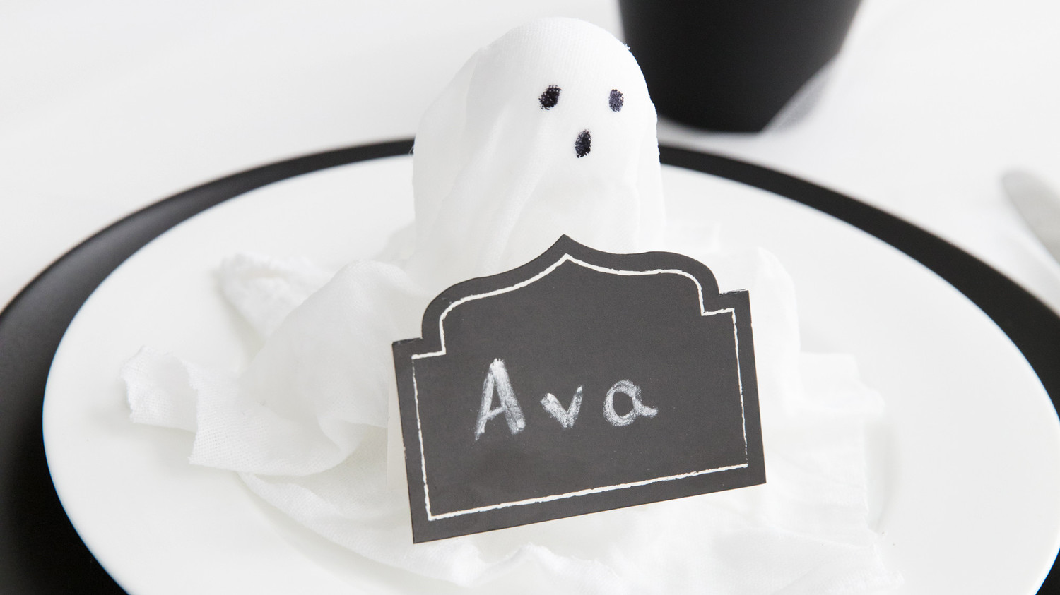 Cloth Ghost Place Cards