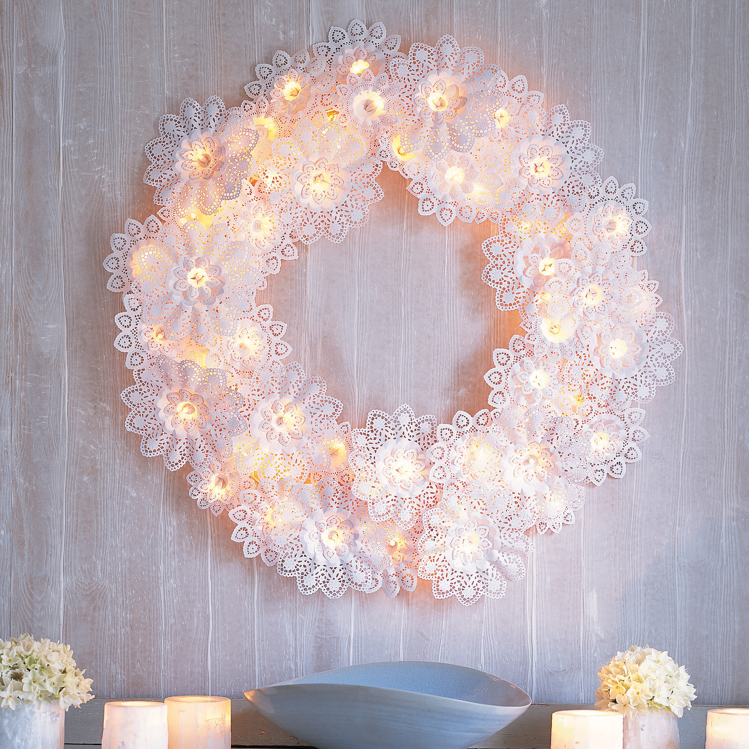 Paper Doily Wreath Martha Stewart