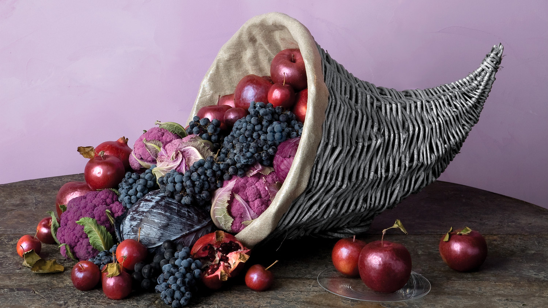 Shimmery Lined Cornucopia Martha Stewart