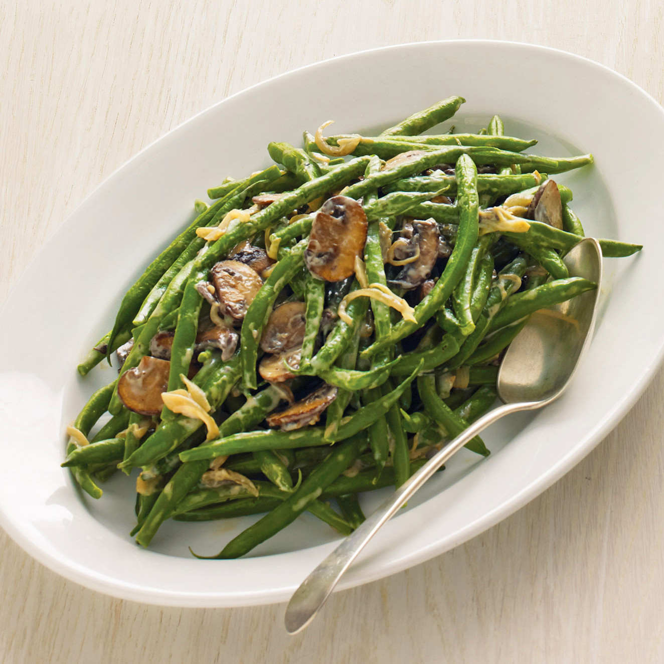 picture Green Beans with Lemon Butter and Frizzled Shallots