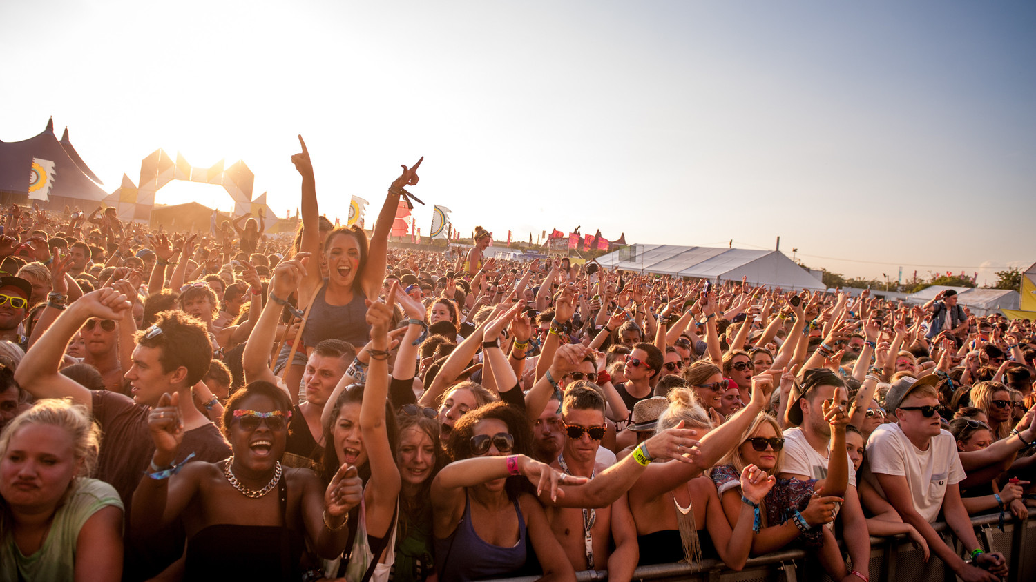 music festival crowd
