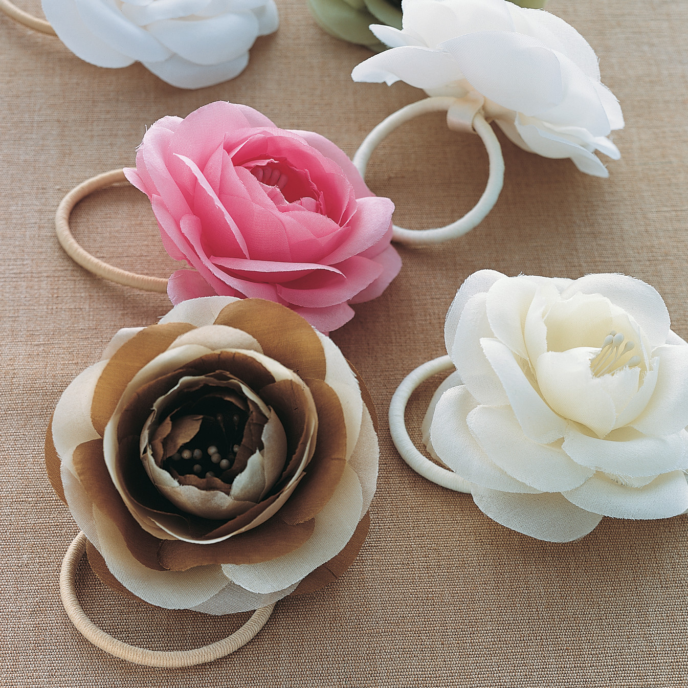 Silk flower hair bands martha stewart mightylinksfo