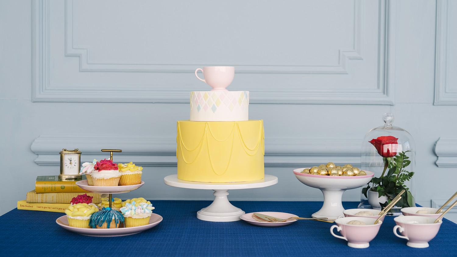 Attractive Beauty And The Beast Baby Shower Desserts Cake
