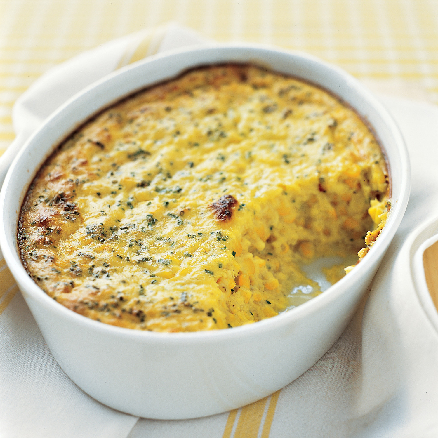 Corn Pudding With Chives