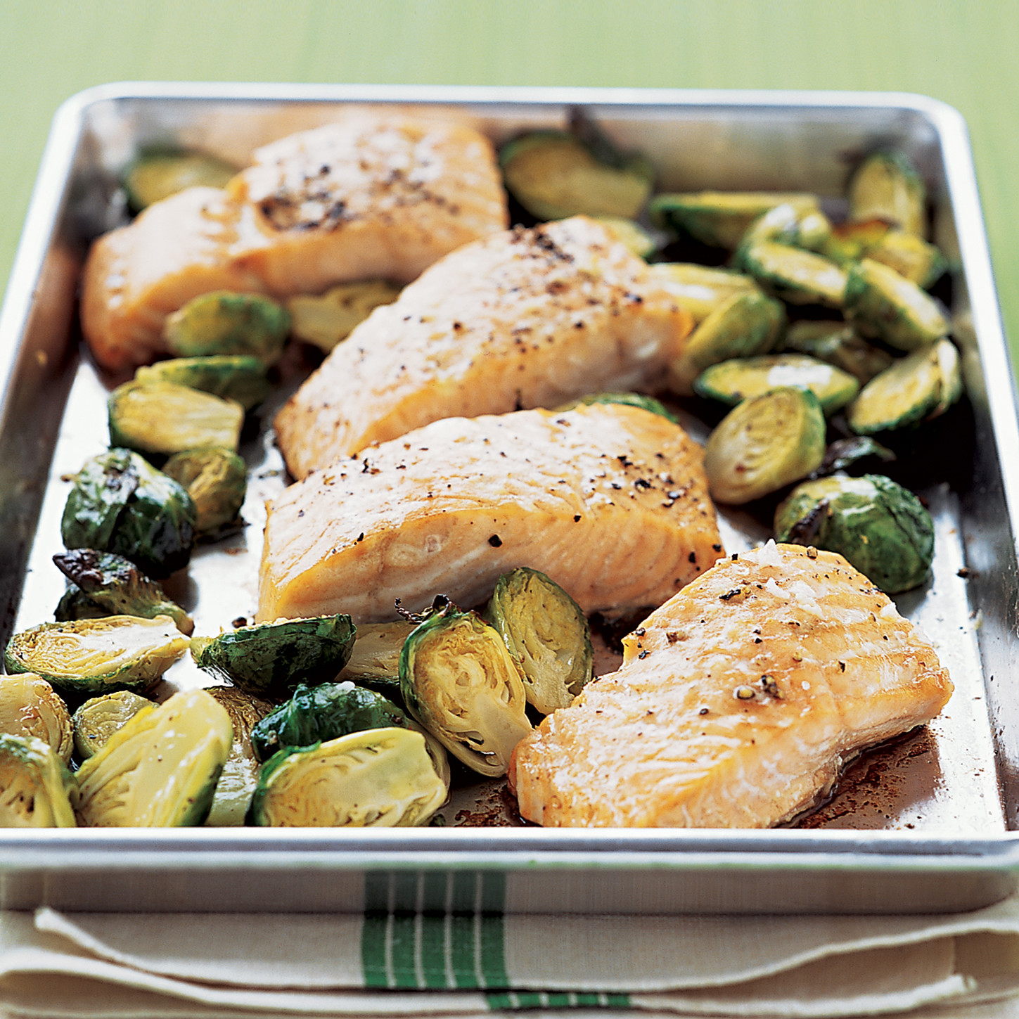 Roasted salmon with brussels sprouts ccuart Choice Image