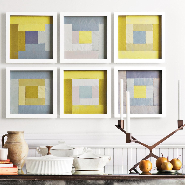 Framed Quilt Squares | Martha Stewart