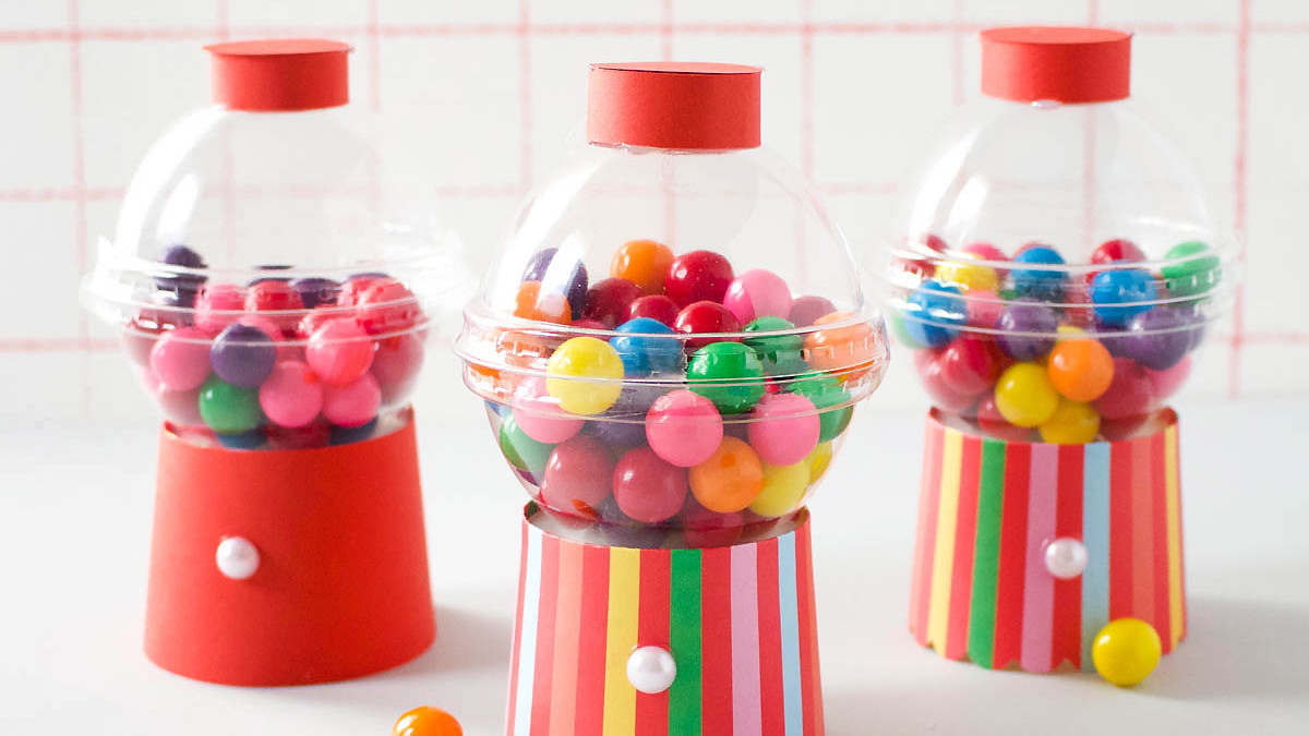 Mini Gumball Machine Party Favors