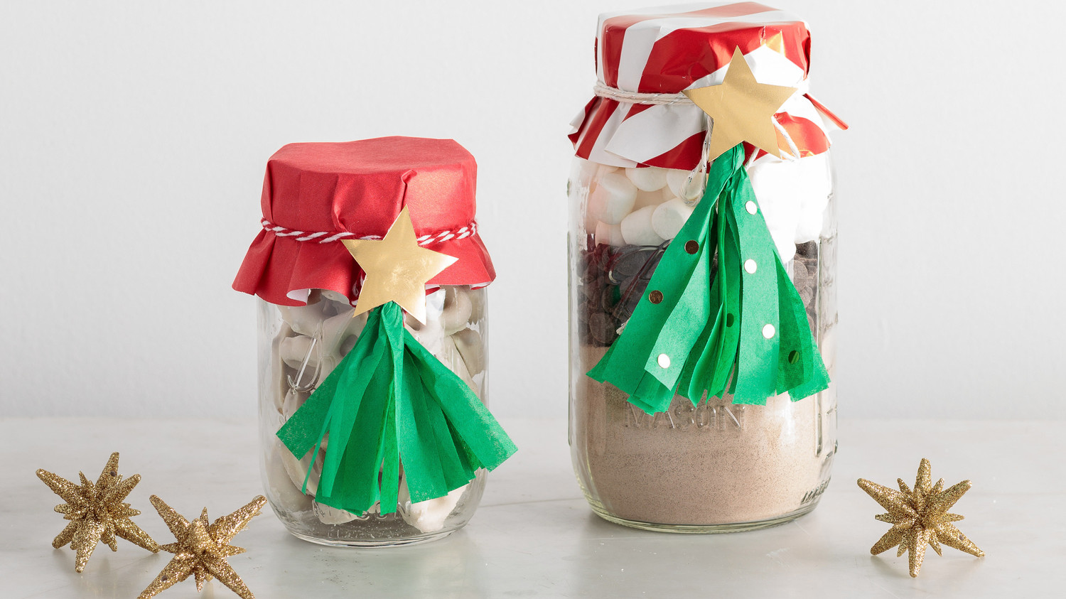 How To Make Christmas Tree Toppers For Gifts In A Jar