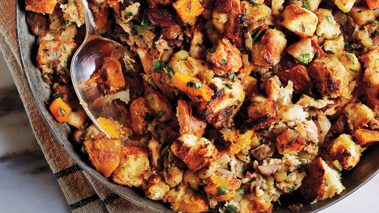 how to cook extra stuffing outside the turkey