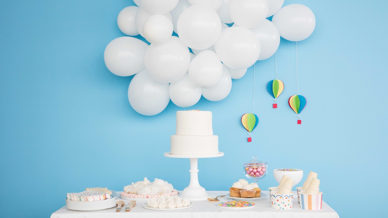 Up Up And Away Its A Hot Air Balloon Baby Shower Martha Stewart