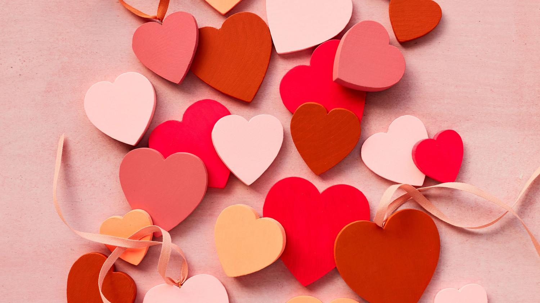 Wooden Valentines Day Hearts Martha Stewart