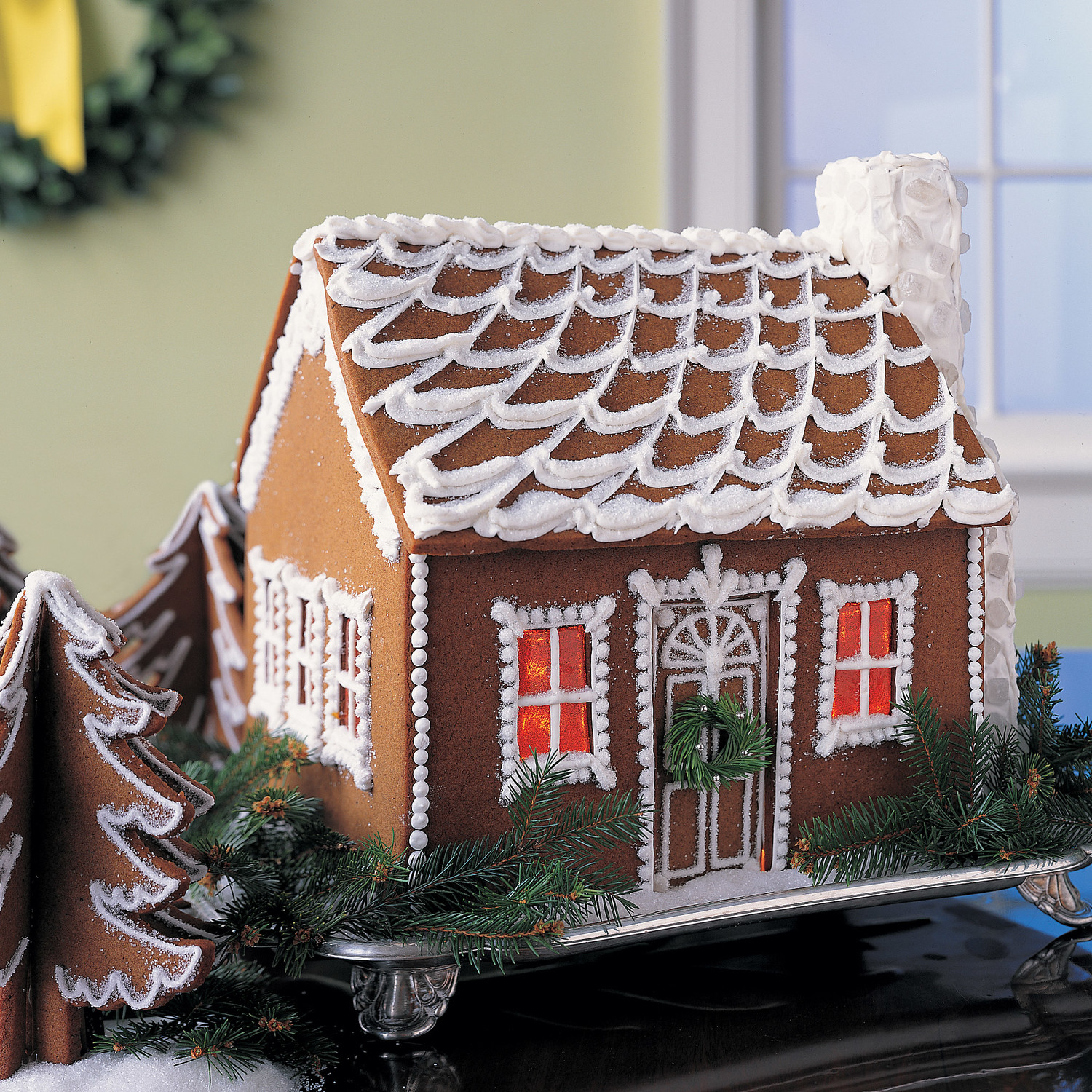 Snow-Swept Gingerbread Cottage