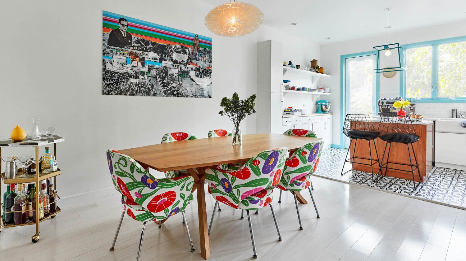 dania colorful home redo dining room