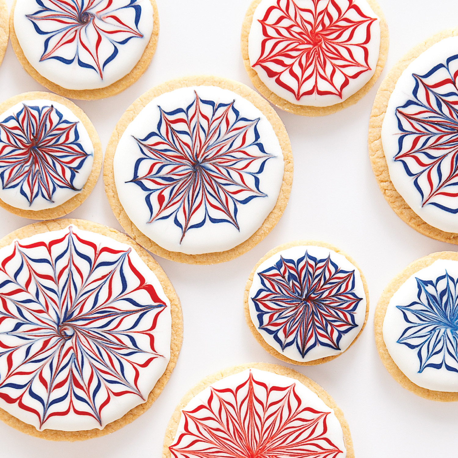 Red, White, and Blue Royal Icing