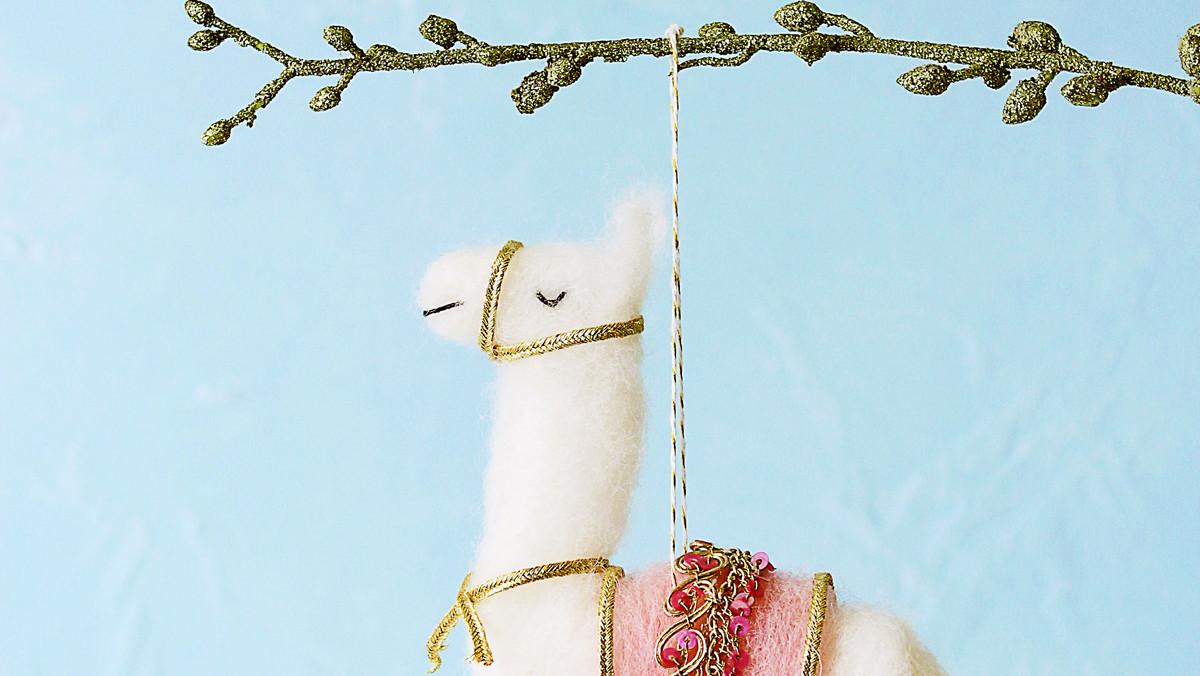 Needle Felted Llama Ornament Martha Stewart
