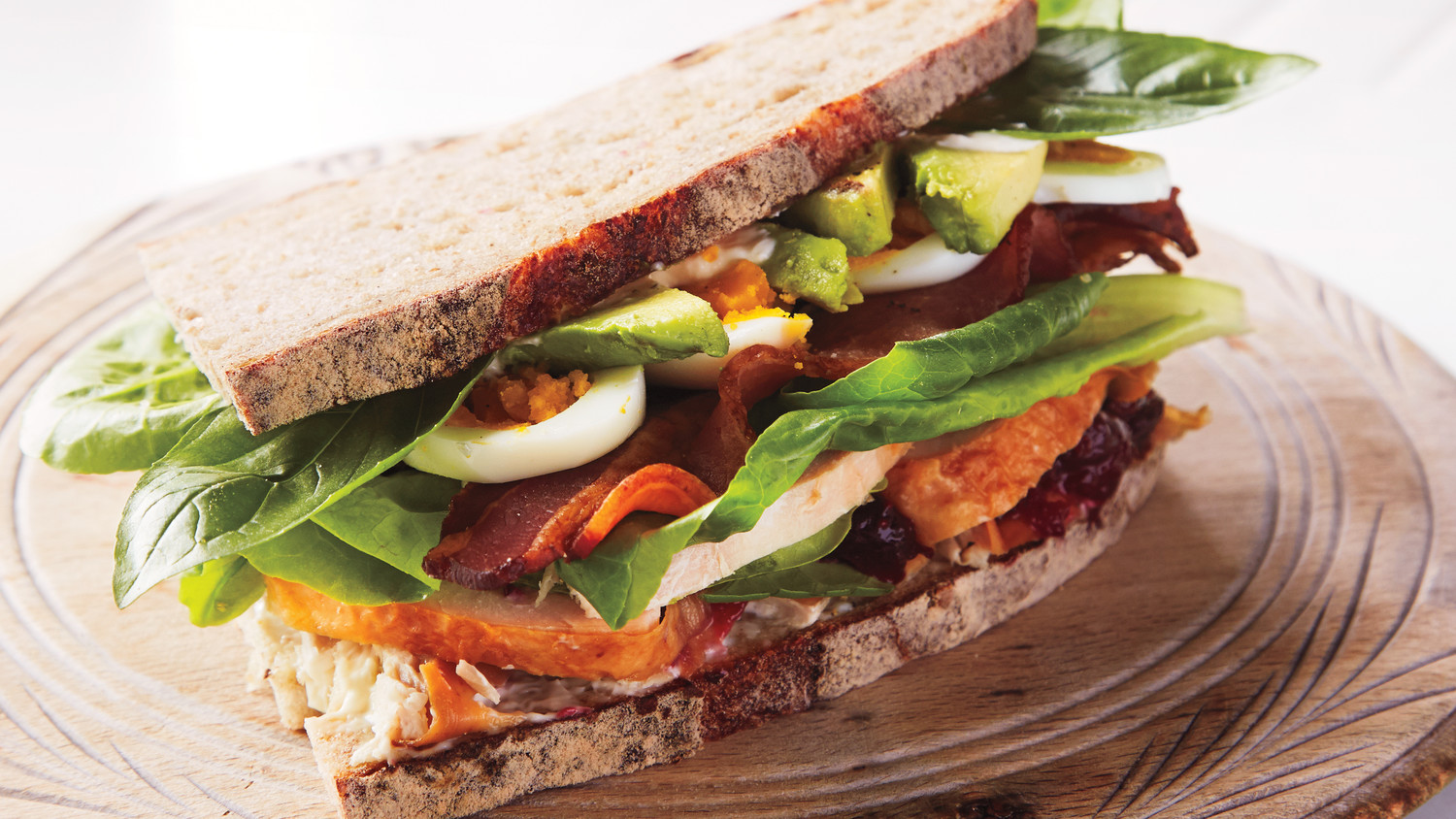 Curried Turkey, Apple, and Watercress Sandwich Curried Turkey, Apple, and Watercress Sandwich new foto