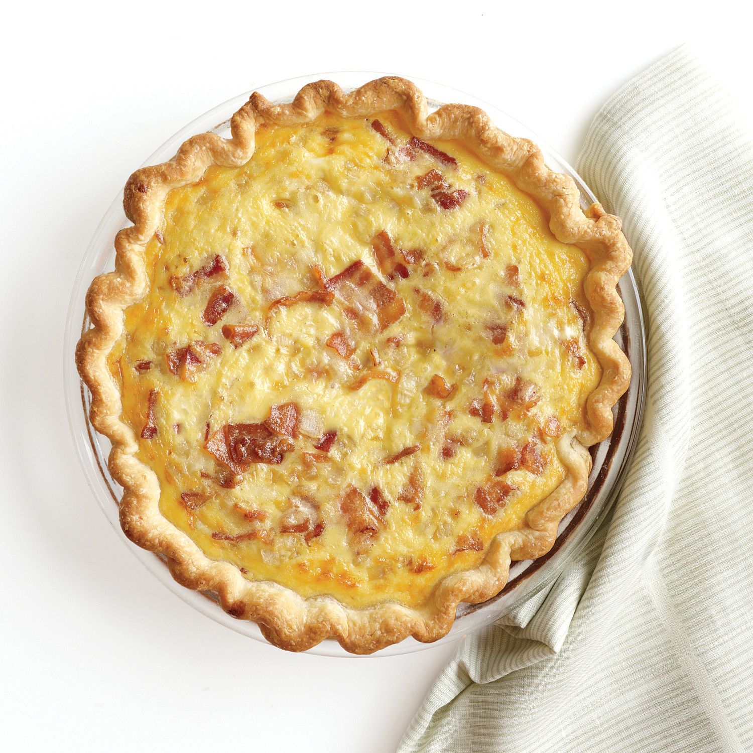 Dish Storage Ideas Bacon Cheese Quiche