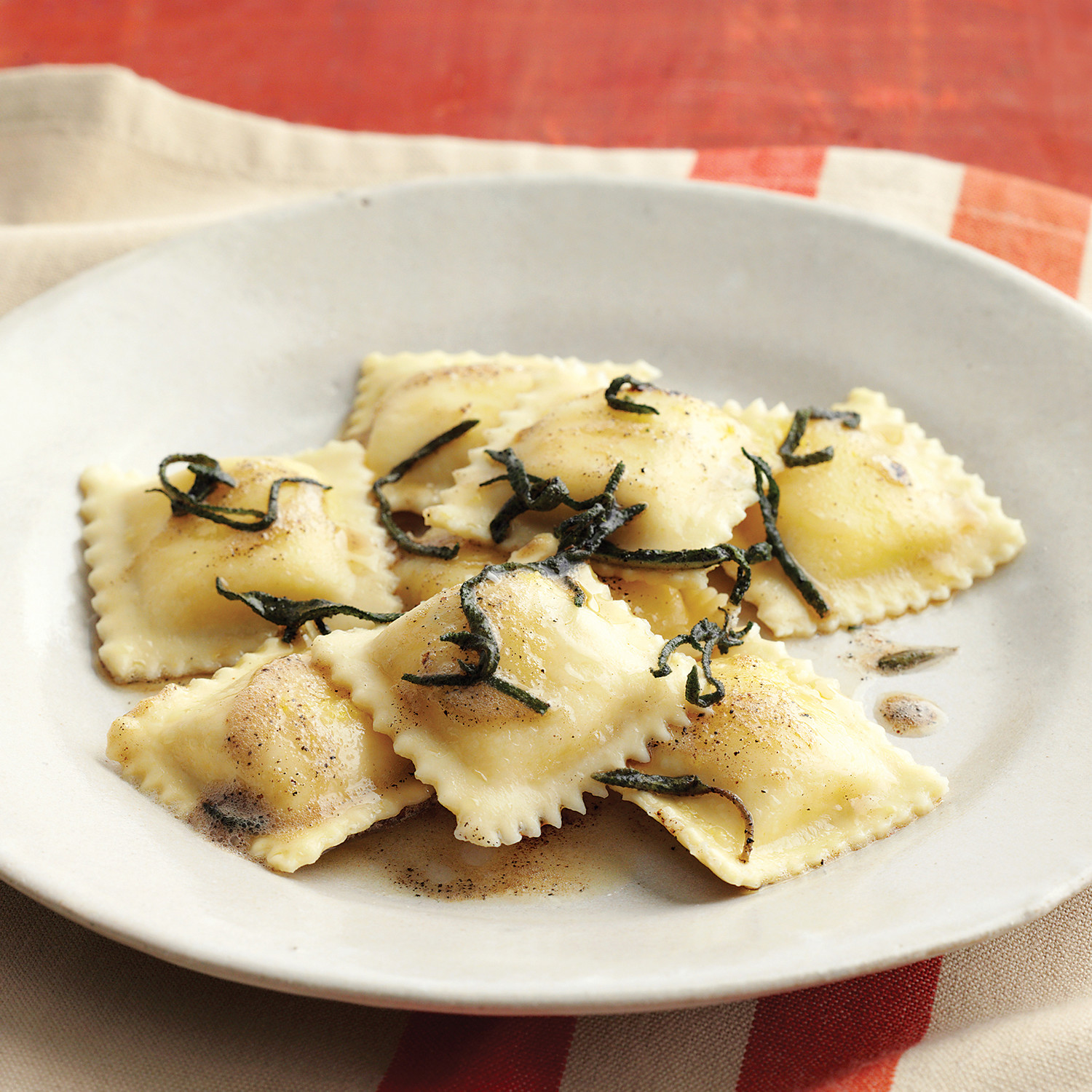 Valentine Design Ideas Cheese Ravioli With Brown Butter And Sage