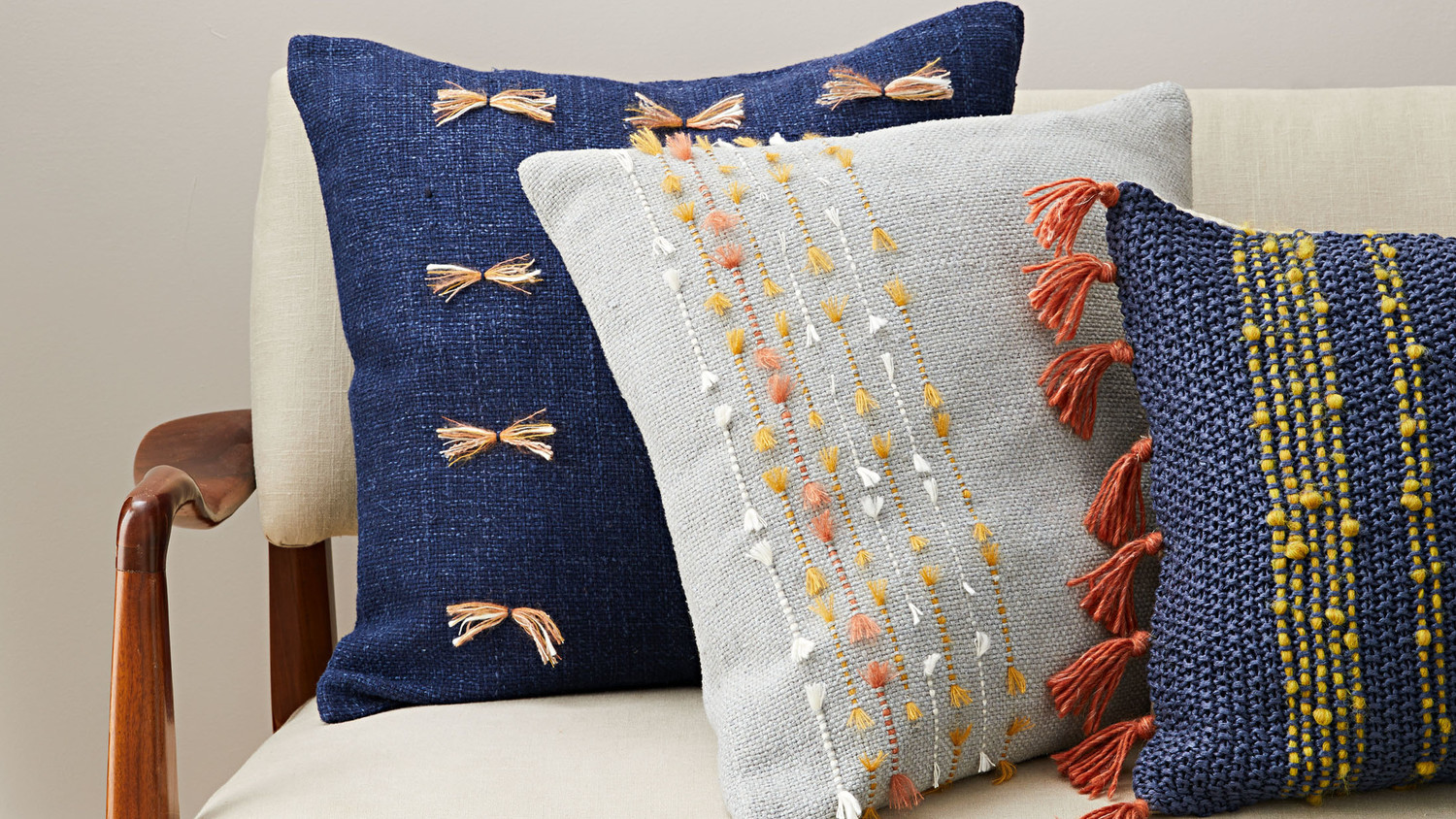 Embroidered Throw Pillows
