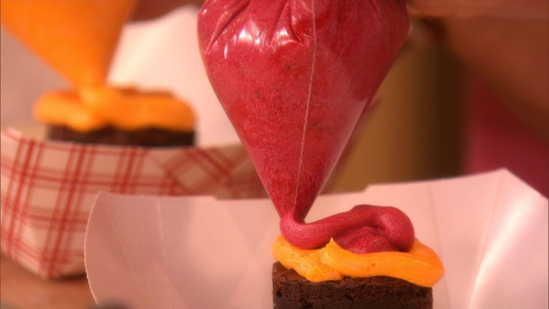 Hamburger Cupcakes with Fries Video   Martha Stewart