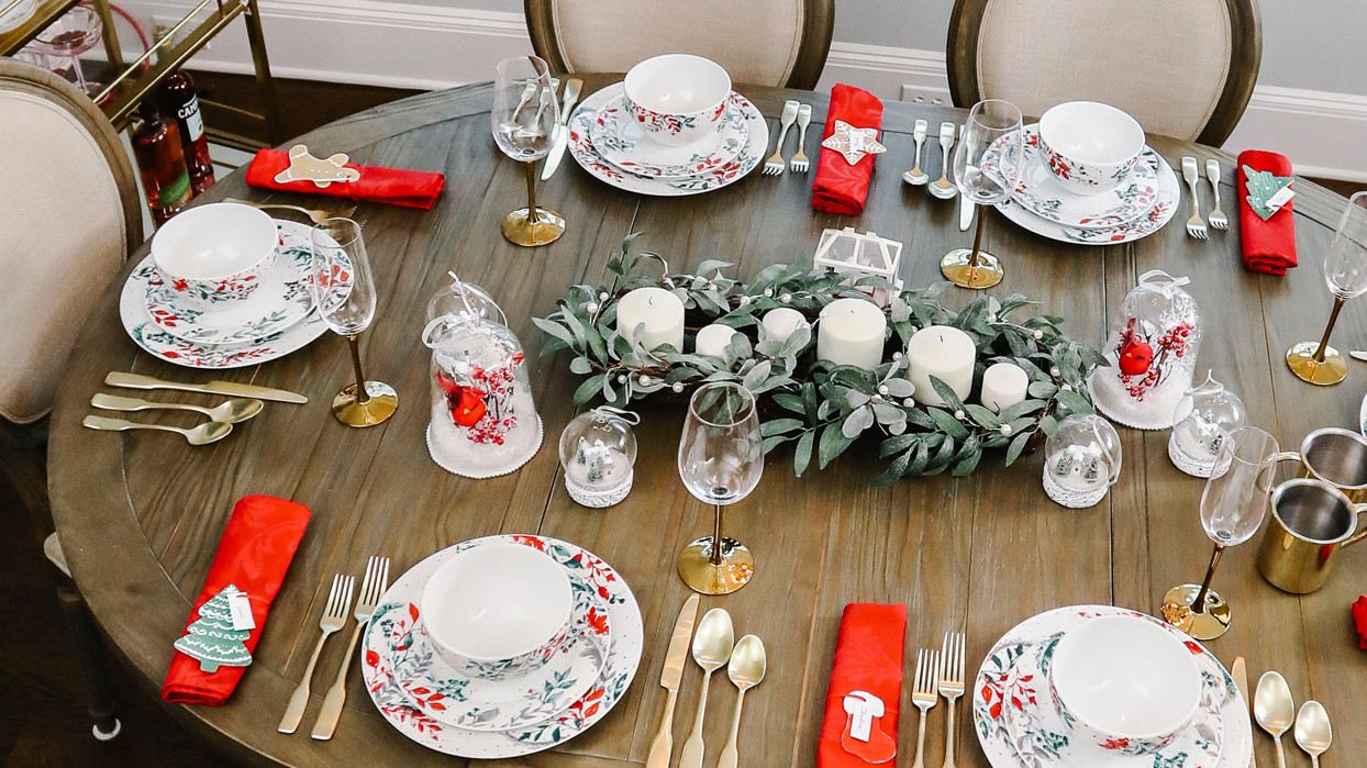 martha stewart collection festive tablescape